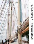 riga  latvia   july 26  regatta ... | Shutterstock . vector #756801976