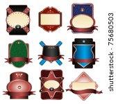 set of nine noble lables on...   Shutterstock .eps vector #75680503