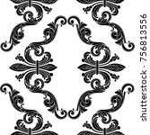 vintage baroque  seamless... | Shutterstock .eps vector #756813556