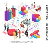 job interview infographics with ... | Shutterstock .eps vector #756816055