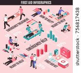 first aid isometric... | Shutterstock .eps vector #756817438