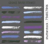 modern watercolor daubs set ... | Shutterstock .eps vector #756817846