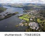 aerial view of windermere in...
