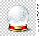 realistic transparent christmas ... | Shutterstock .eps vector #756818395