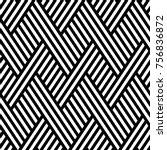 vector seamless pattern. modern ... | Shutterstock .eps vector #756836872