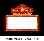 neon marquee sign vector... | Shutterstock .eps vector #75683710