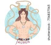 zodiac. vector illustration of...   Shutterstock .eps vector #756837565
