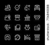 set line icons of sleep | Shutterstock .eps vector #756840088