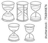 vector set of hourglass | Shutterstock .eps vector #756844876