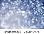 magic blue holiday abstract... | Shutterstock . vector #756849976