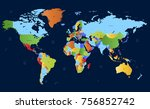 color world map vector | Shutterstock .eps vector #756852742