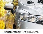 modern car headlights  exterior ... | Shutterstock . vector #756860896