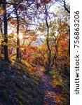 czech central mountains  nature ... | Shutterstock . vector #756863206