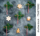 christmas or new year concept.... | Shutterstock . vector #756870082