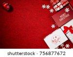 christmas gift box.  christmas... | Shutterstock . vector #756877672