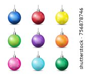 collection of colorful... | Shutterstock .eps vector #756878746