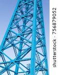 the transporter bridge over the ... | Shutterstock . vector #756879052
