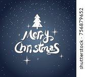 merry christmas icon... | Shutterstock .eps vector #756879652