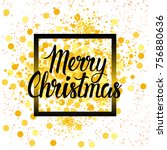 christmas holiday poster on... | Shutterstock .eps vector #756880636