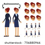 character is a businesswoman.... | Shutterstock .eps vector #756880966