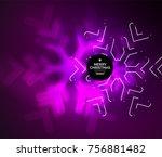 frozen winter holiday... | Shutterstock .eps vector #756881482