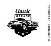 classic car illustration ... | Shutterstock .eps vector #756885382