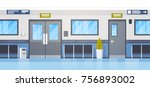 empty hospital clininc hall... | Shutterstock .eps vector #756893002
