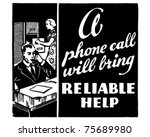 reliable help   retro ad art... | Shutterstock .eps vector #75689980