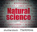science concept  painted red... | Shutterstock . vector #756909046