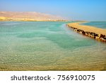 view of dead sea in the morning....   Shutterstock . vector #756910075