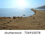 view of dead sea in the morning.... | Shutterstock . vector #756910078