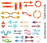 multicolors arrow icon on white ... | Shutterstock .eps vector #756919108