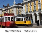 lisbon  portugal   april 4  old ... | Shutterstock . vector #75691981