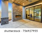 outside covered patio boasts... | Shutterstock . vector #756927955