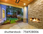 outside patio features natural... | Shutterstock . vector #756928006