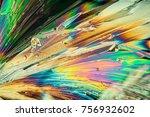 citric acid crystals in... | Shutterstock . vector #756932602