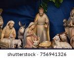 the nativity scene | Shutterstock . vector #756941326