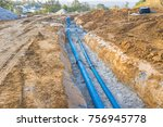 construction site with new... | Shutterstock . vector #756945778