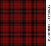 red and black tartan plaid.... | Shutterstock .eps vector #756950152