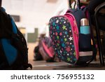 school bags in the classroom | Shutterstock . vector #756955132