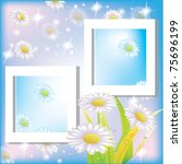 frame with flowers | Shutterstock .eps vector #75696199