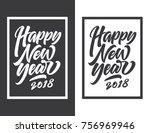 hand lettering typeface for... | Shutterstock .eps vector #756969946