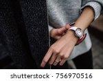 White Women's Wrist Watch On...