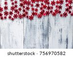 Red Beads Snowflake Garland On...