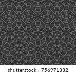 decorative wallpaper design in... | Shutterstock .eps vector #756971332