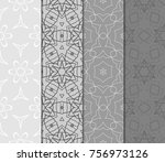 set of monochrome color... | Shutterstock .eps vector #756973126