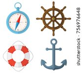 marine  nautical  sea  ocean... | Shutterstock .eps vector #756976648