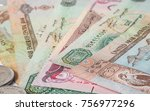 uae dirham currency notes and...   Shutterstock . vector #756977296