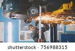 car auto service   worker... | Shutterstock . vector #756988315