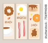 breakfast vector concept ... | Shutterstock .eps vector #756994048